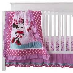 minnie mouse crib set walmart minnie mouse 4pc disney baby appliqued cot bedding