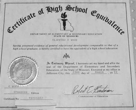 printable fake ged certificate   original