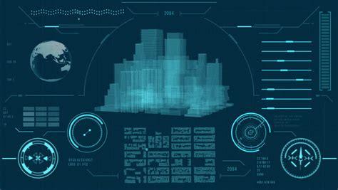 white futuristic urban navigation map user interface