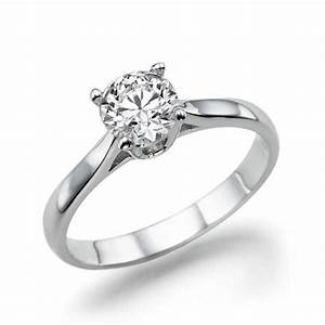 solitaire engagement ring diamond ring 14k white gold With engagement wedding rings for women