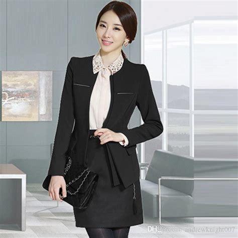 set blazer dress shirt 2017 womens slim work wear trouser jacket ol