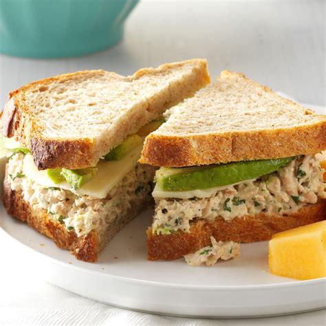 cilantro avocado tuna salad sandwiches recipe taste  home
