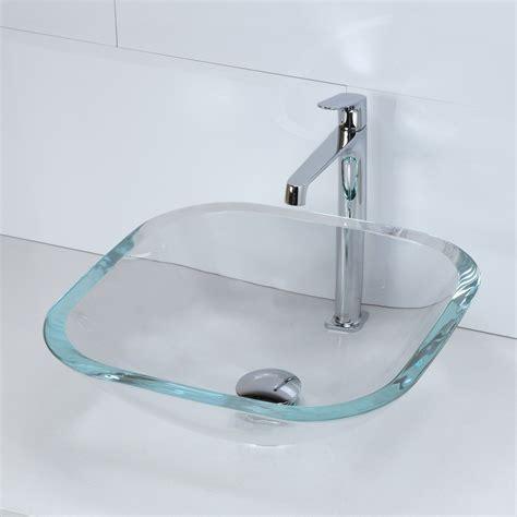 decolav vs kohler sinks decolav 1139t translucence 16 1 2 square tempered glass