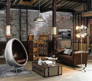 Maison Du Monde Industriel : salon industriel loft maisons du monde escalier d coration industrielle pinterest maison ~ Teatrodelosmanantiales.com Idées de Décoration