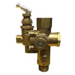 "GAS AIR COMPRESSOR UNLOADER CHECK VALVE COMBO 145 - 175 - 1/2"" NPT F, 1/2"" NPT M"