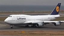 Lufthansa Boeing 747-400 D-ABVM Takeoff 【KIX/RJBB】 - - YouTube