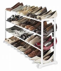 Whitmor, White, 20, Pair, Shoe, Rack, Storage, Organizer, Holder, Closet, Stand, Boot, Heels