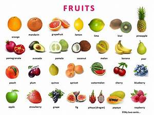 Name of fruits and vegetables in english