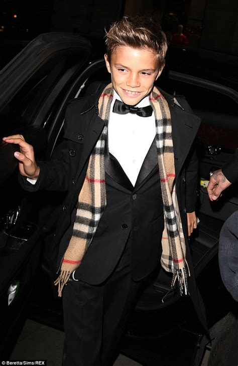 romeo beckham unveiled as the of burberry s caign daily mail