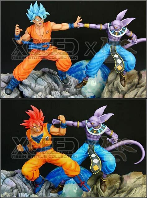 mrcxceed dbz dragon ball resin statue figure redblue