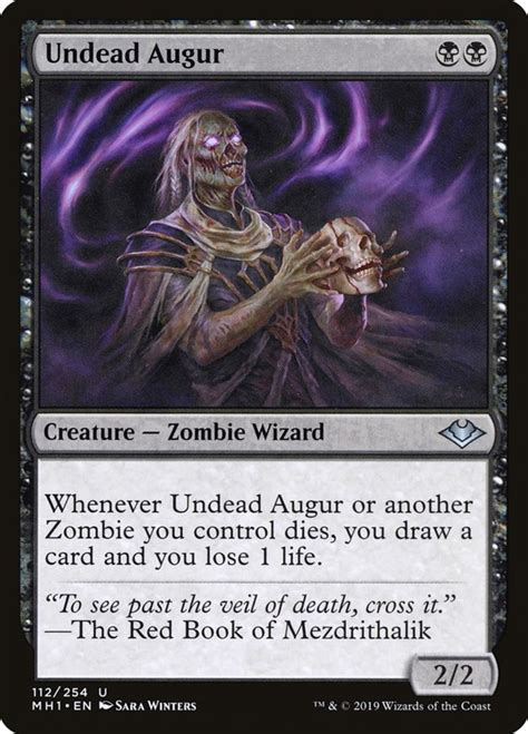 mtg zombie cards undead augur magic draw gathering card modern scryfall force despair spells mh1 horizons zombies deck oathbreaker foil
