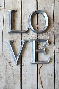4 wall letters love sign wall art decor vintage style With love wall letters