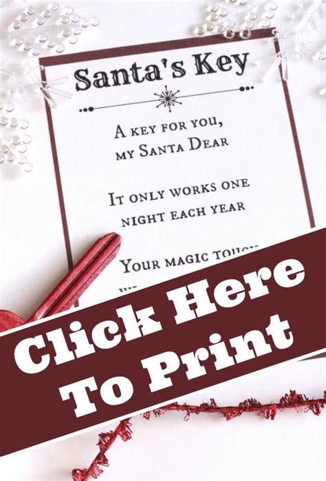 santas magic key   printable poem happy hooligans