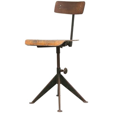 jean prouve style industrial drafting chair for sale at
