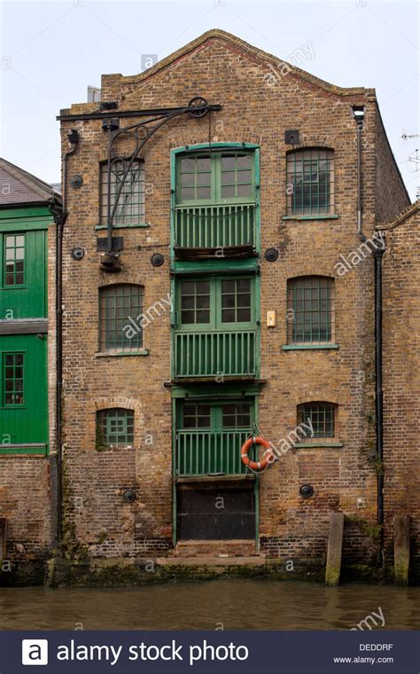 Old Warehouse In Docklands, London Stock Photo, Royalty