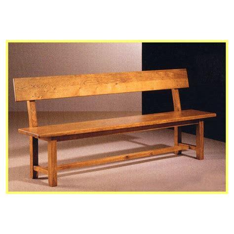 banc de cuisine en bois banc à dossier vieux bois françois meubles de normandie