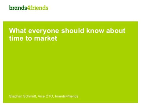 What Everyone Should Know About Time To Market