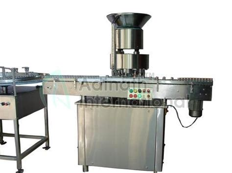 adinath automatic vial cap sealing machine capacity depends  model rs  unit id
