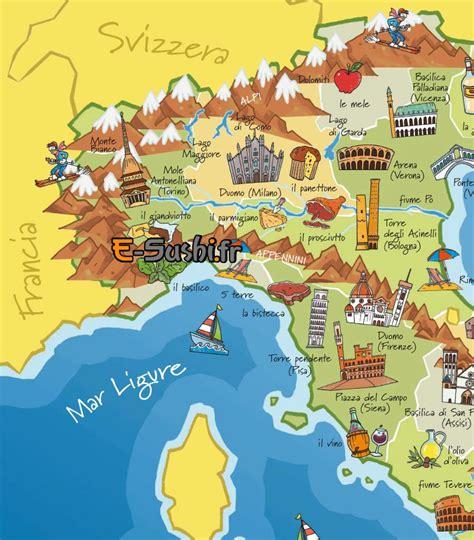 Carte Quart Nord Ouest by Italie Du Nord Carte Touristique Passions Photos