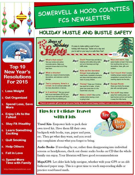 holiday newsletter fcs 2015 newsletter somervell
