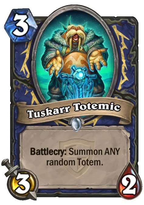 Hearthstone Grand Tournament Totem Deck by Tuskarr Totemic Hearthstone Card Hearthstone Top Decks