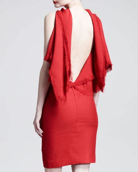 Draped Backless Dress - gareth pugh triangle draped backless dress in lyst