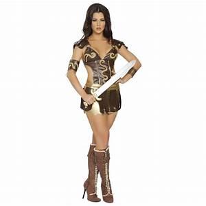 Fantasy Warrior Girl Amazon Roman Gladiator Costume