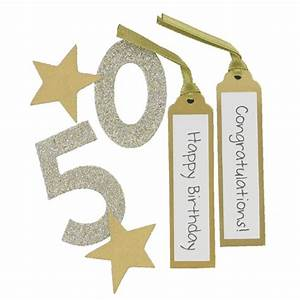 Express Yourself Gold 50Th Birthday Card Toppers 6 Pieces