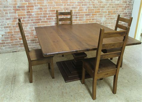 60 square dining table square reclaimed wood table ecustomfinishes 3937
