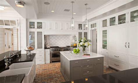 Kitchen with Brick Floor   Contemporary   Kitchen