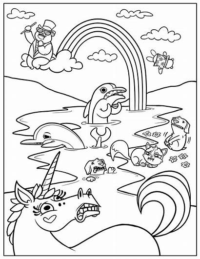 Coloring Pages Rainbow Printable