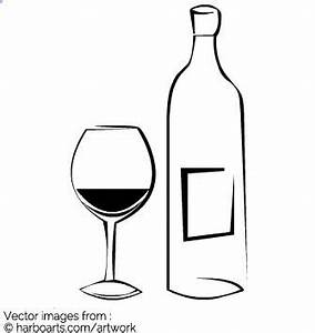 Download : Wine glass and bottle - Vector Graphic