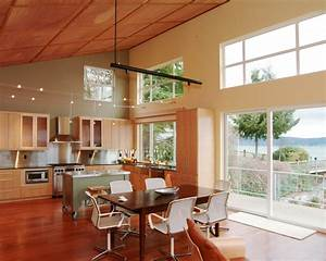 High ceiling lighting kitchen home design ideas