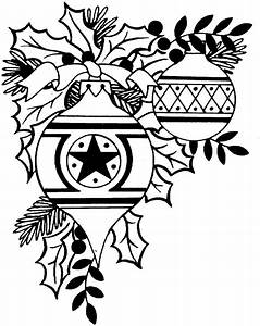 christmas decorations clipart borders black and white 20 ...