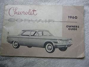 1960 Cheverolet Corvair Owner U2019s Guide Manual Original Gm