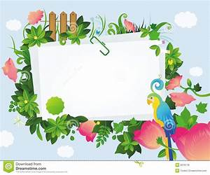 Floral frame stock vector. Image of background, bird ...