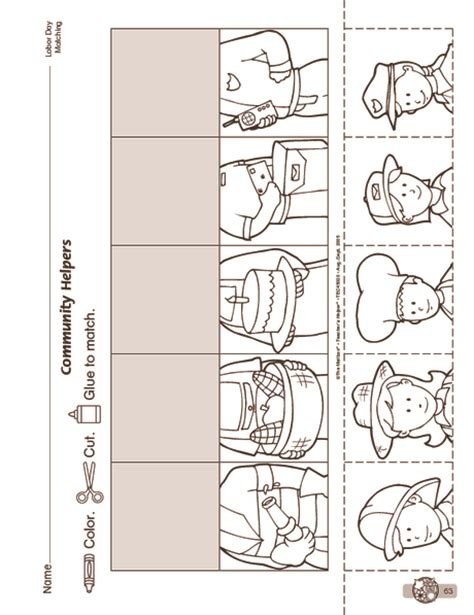 crafts actvities and worksheets for preschool toddler and 486 | community helpers cut paste worksheet 11