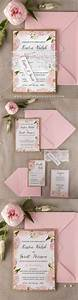 Best 25 floral wedding invitations ideas on pinterest for Wedding invitations with real flowers