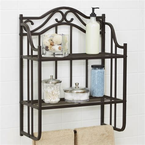 chapter bathroom storage wall shelf oil rubbed bronze