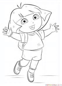 How To Draw Dora The Explorer Step By Step Drawing Tutorials