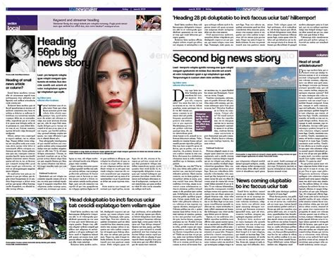 There are very good benefits to this printing. Tabloid Newspaper Template | Tabloid newspapers, Templates