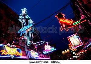 Colorful Asian neon signs for bars and karaoke in