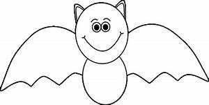 Black and white Halloween bat. | Halloween Clip Art ...