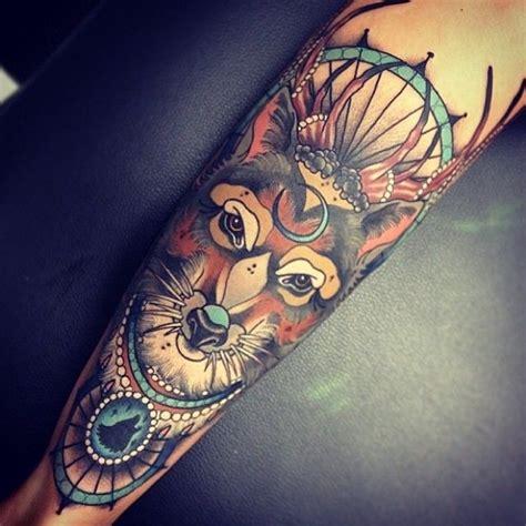Amazing New School Fox Tattoo #tattoos  Inked Pinterest