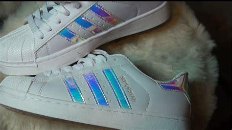 Holographic Adidas Shoe