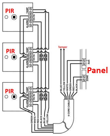 wiring pir sensors in parallel diagram wiring two pir alarm sensors in series confusion help