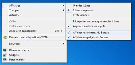 image bureau windows 7 comment afficher les elements du bureau