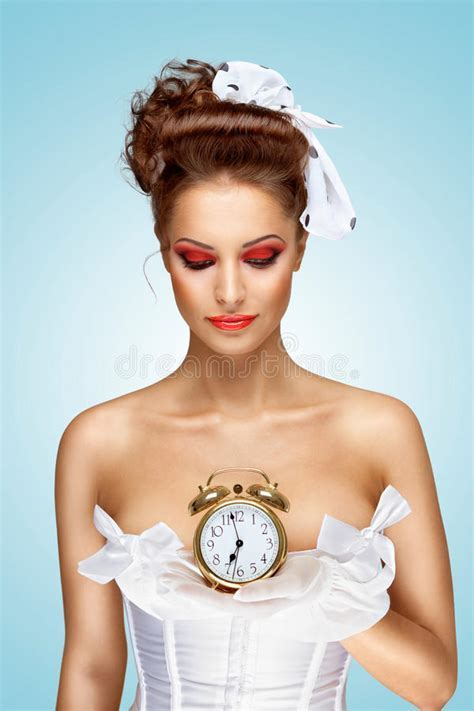 She is always late. stock photo. Image of holding, fashion