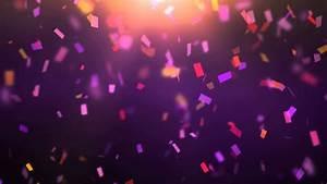 confetti falling on purple background j wgfzwh D - YouTube  Purple