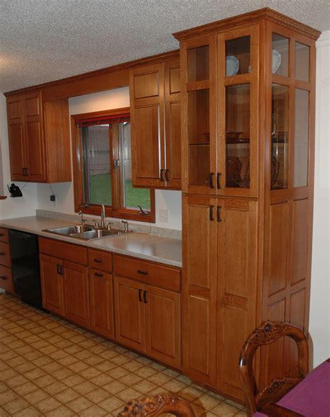 Quarter Cabinet by Quartersawn Oak Cabinets Cronen Cabinet And Flooring